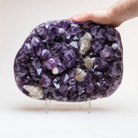 Amethyst with Calcite Crystal Cluster from Brazil (28.8 lbs)