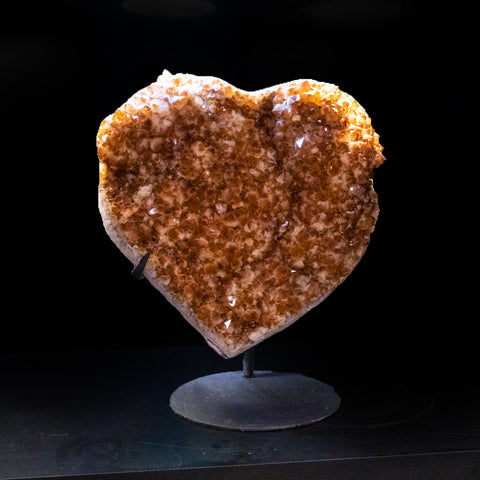 Citrine Cluster Heart on Stand from Uruguay (50 lbs)