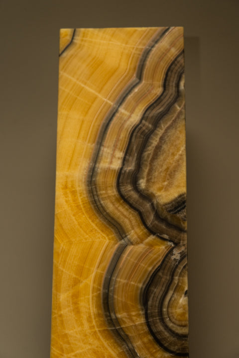 "Orange Calcite Square Onyx Lamp from Mexico (59"", 105 lbs)"