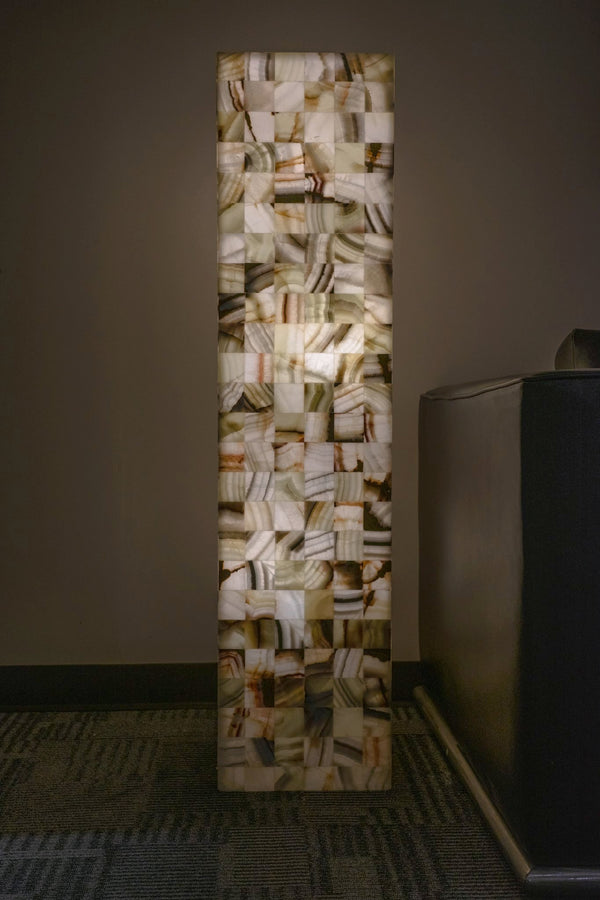 Square Base Onyx Floor Lamp From Mexico 49 5 86 Lbs Astro