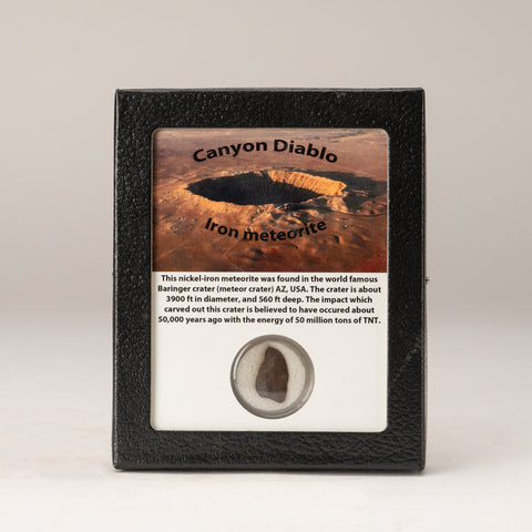 Genuine Canyon Diablo Iron Meteorite in Display Box