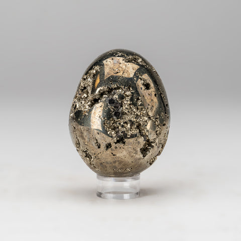 Polished Pyrite Egg from Peru (1.2 lbs)