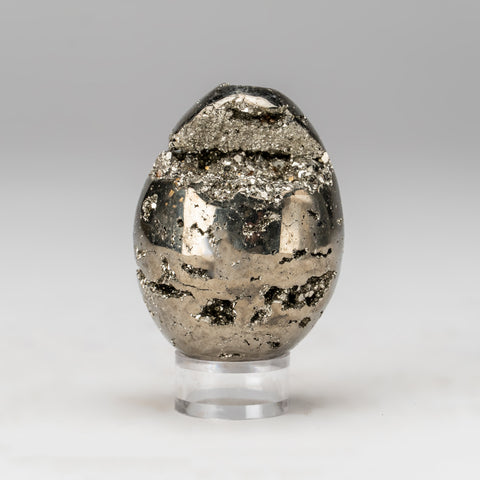 Polished Pyrite Egg from Peru (274 grams)