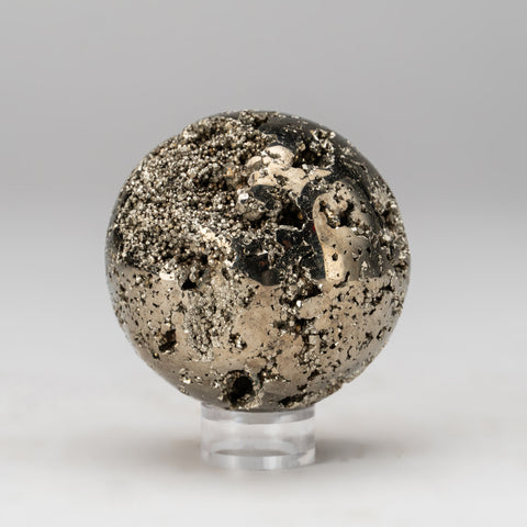 "Polished Pyrite Sphere from Peru (2.75"", 1.2 lbs)"