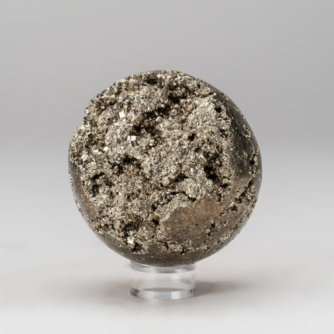 "Polished Pyrite Sphere from Peru (3"", 1.8 lbs)"