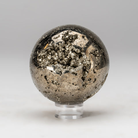 "Polished Pyrite Sphere from Peru (3"", 1.6 lbs)"