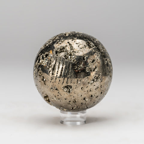 "Polished Pyrite Sphere from Peru (3.25"", 2.2 lbs)"