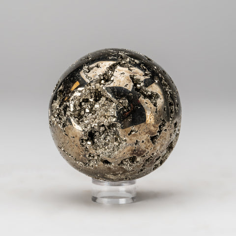 "Polished Pyrite Sphere from Peru (3.25"", 1.8 lbs)"