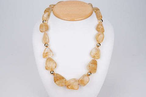 890 ct Rutilated Quartz Necklace - Astro Gallery