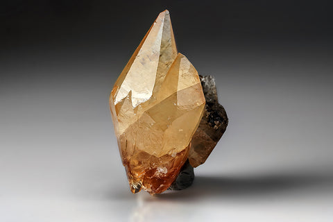 Twinned Golden Calcite Crystal from Elmwood Mine, Tennessee (235.3 grams)