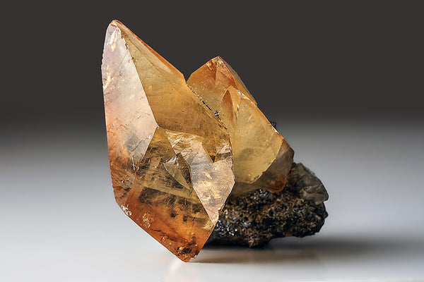 Twinned Golden Calcite Crystal from Elmwood Mine, Tennessee (422.8 grams)