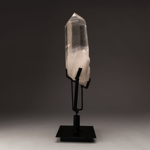 Natural Lemurian Quartz Crystal on Stand From Brazil (12 lbs)
