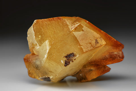 Twinned Golden Calcite Crystal from Elmwood Mine, Tennessee (515.9 grams)