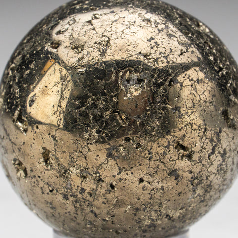 "Polished Pyrite Sphere from Peru (2.25"", 403 grams)"