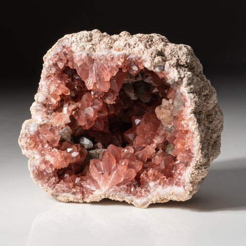 Pink Amethyst Geode Cluster from Neuquén Argentina (407 grams)