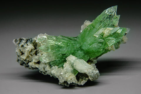 Green Apophyllite on Matrix Apophyllite from Pashan Hill Quarry, Poona District, Maharashtra, India