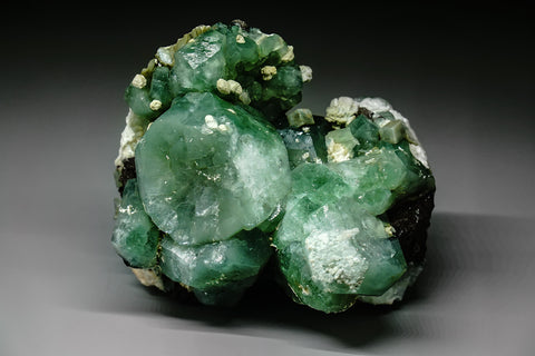 Celadonite included Apophyllite From Sakur, Maharashtra, India