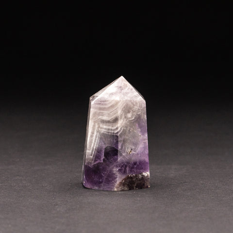 Polished Chevron Amethyst Point from Brazil (138.5 grams)