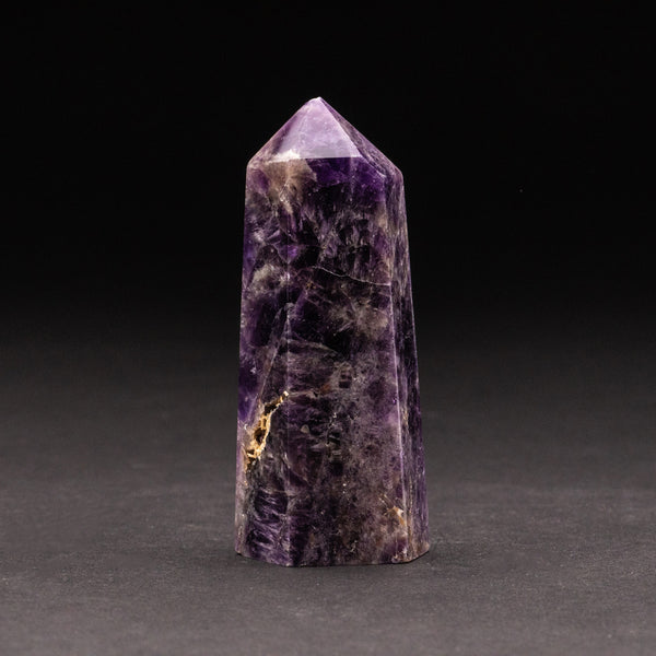 Polished Chevron Amethyst Point from Brazil (160 grams)