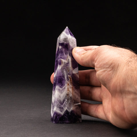 Polished Chevron Amethyst Point from Brazil (190.4 grams)