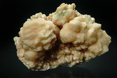 Large Stilbite Cluster with Green Apophyllite from Maharashtra, India