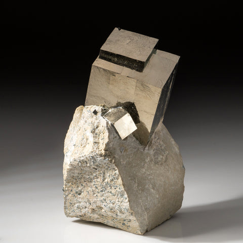 Pyrite Cube on Basalt From Navajun, Spain (4.2 lbs)