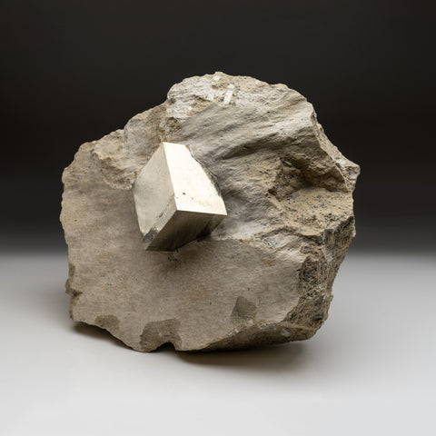 Large Pyrite on Matrix From Victoria Mine, Navajún, La Rioja, Spain