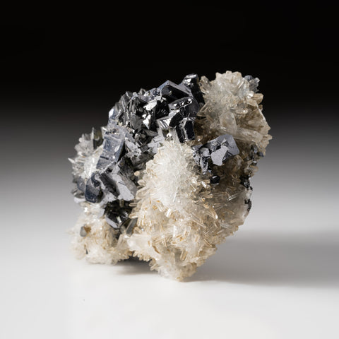 Galena with Quartz from Baia Sprie (Felsöbánya), Maramures, Romania
