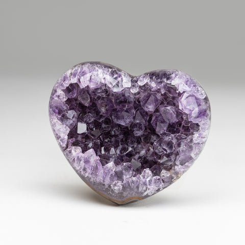 Amethyst Cluster Heart from Brazil(.8 lbs)