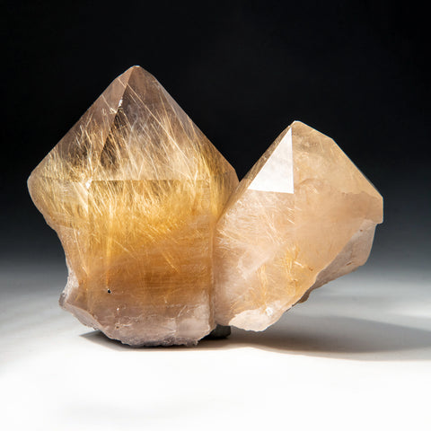 Rutilated Quartz Crystals From Novo Horizonte, Bahia, Brazil
