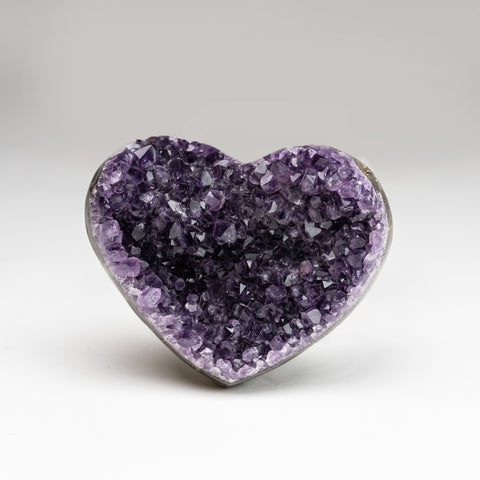 Amethyst Cluster Heart from Brazil (1.2 lbs)