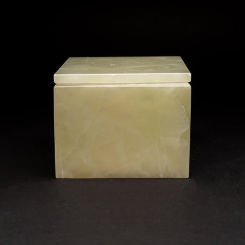 Large Square Green Onyx Box from Mexico (6 lbs)