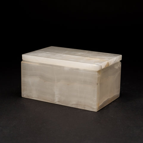 Rectangular White Onyx Box from Mexico (3.4 lbs)