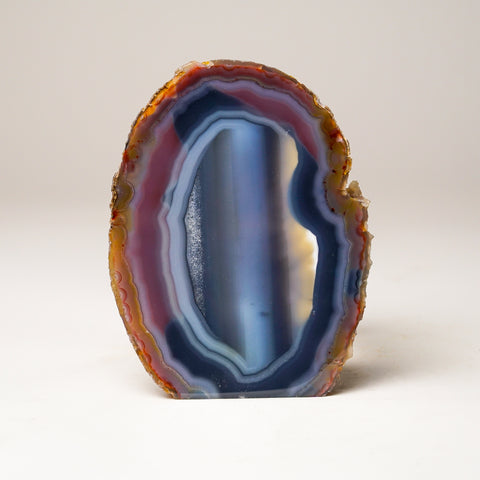 Blue Banded Agate Slice from Brazil (618.3 grams)