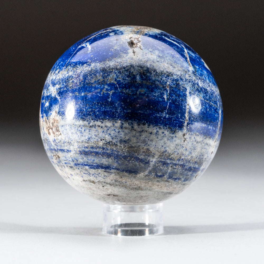 "Polished Lapis Lazuli Sphere from Afghanistan (2.75"", 1.6 lbs)"