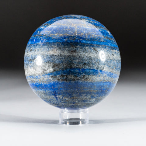 "Polished Lapis Lazuli Sphere from Afghanistan (3"", 2 lbs)"