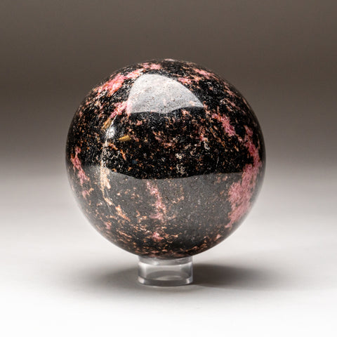 Polished Imperial Rhodonite Sphere from Madagascar (4'', 5 lbs)