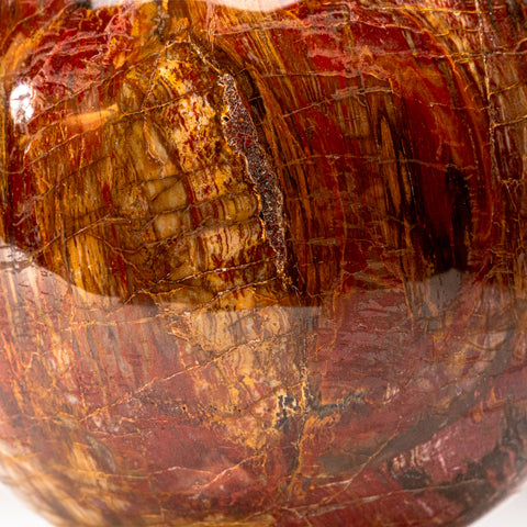 "Polished Petrified Wood Sphere from Madagascar (7"", 15.2 lbs)"