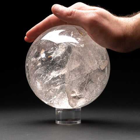"Polished Clear Quartz Sphere From Brazil (5"", 7.8 lbs)"