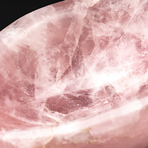 Polished Rose Quartz Bowl From Brazil (3.4 lbs)