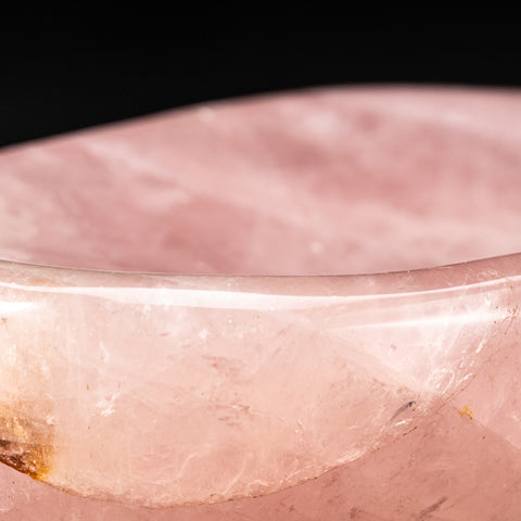 Polished Rose Quartz Bowl From Brazil (3.6 lbs)