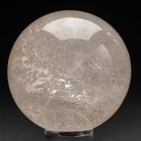 "Polished Clear Quartz Sphere From Brazil (2.75"", .8 lbs)"