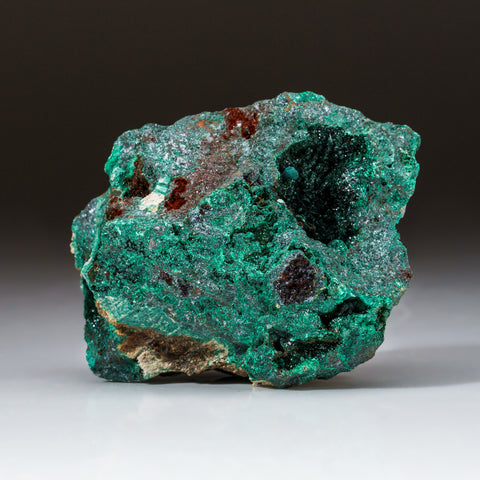 Malachite Crystals on Cuprite Matrix from Shaba Copper Belt, Katanga (Shaba) Province, Democratic Republic of the Congo (Zaire)