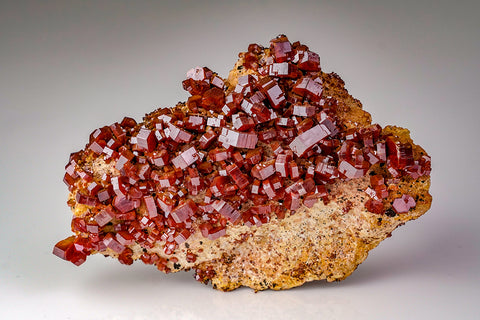 Vanadinite on Matrix from Midbladen, Morocco