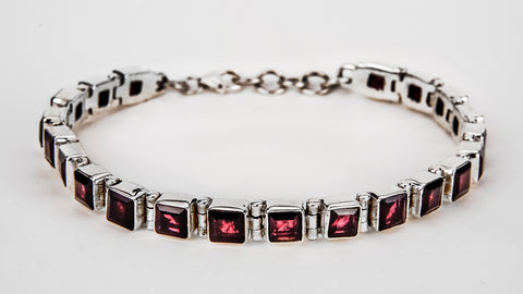 Red Garnet Gemstone Bracelet