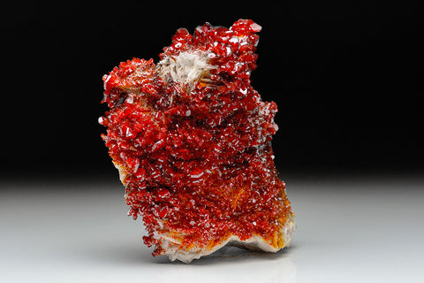 Vanadinite Crystals on Barite - From Mibladen, Atlas Mountains, Khénifra Province, Morocco