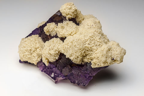 Barite on Fluorite from Elmwood Mine, Carthage. Smith County, Tennessee