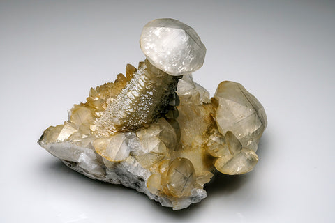 Calcite with Marcasite inclusions from Xianghualing Mine, Chenzhou, Hunan, China