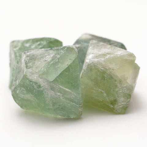 Four Translucent Green Fluorite Palm Crystal from China