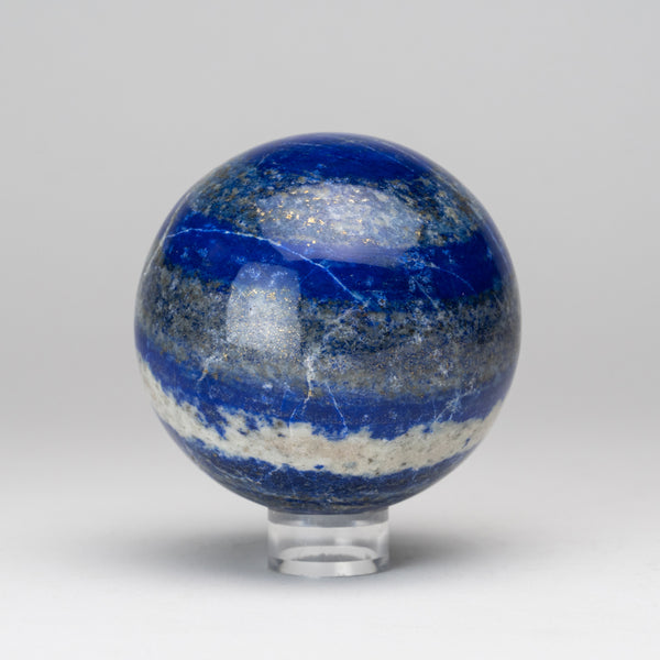 "Polished Lapis Lazuli Sphere from Afghanistan (3.25"", 1.5 lbs)"
